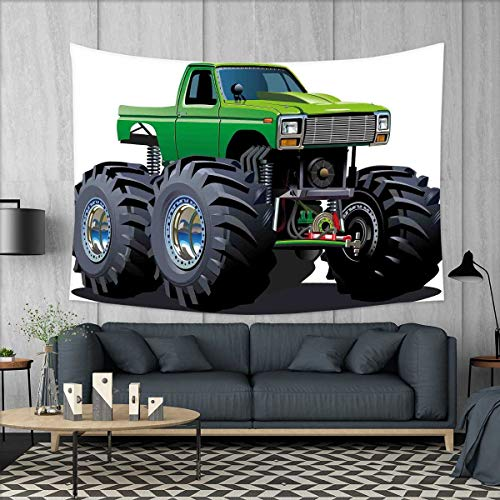 smallbeefly Cars Tapestry Wall Tapestry Giant Monster Pickup