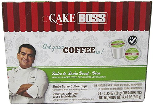 Cake Boss Coffee, Dulce De Leche DECAF, 24 Count