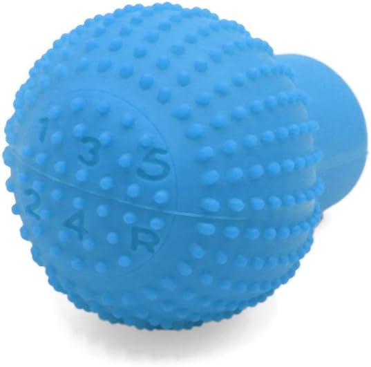 sourcingmap Light Blue Rubber Car Nonslip Round Hand Brake Head Cover Gear Shift Knob Stick Protector