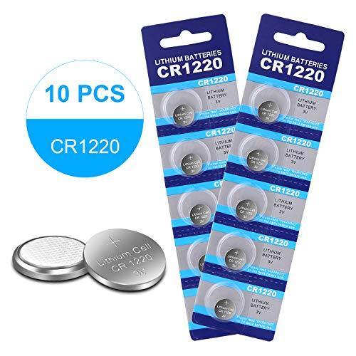 10 Pack CR1220 3V Lithium Battery Coin Cell