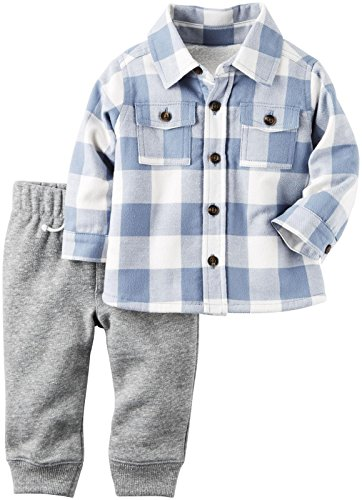 Carter's Baby Boys' 2 Piece Pant Set - 3M - Blue