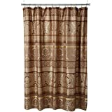 Madison Park Bellagio Taupe Shower Curtain Transitional Curtains For Bathroom 72 X