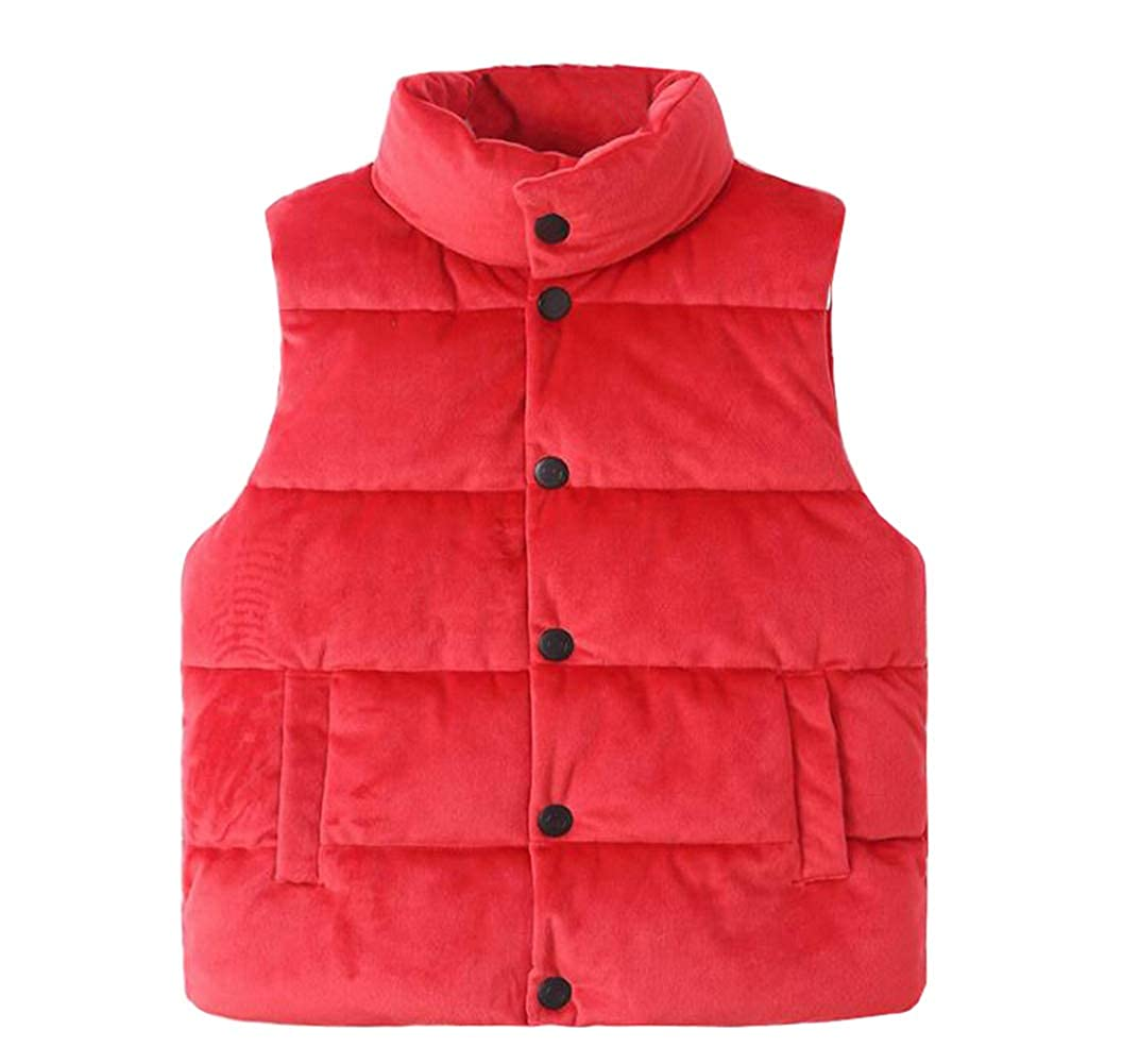 TAIYCYXGAN Girls Boys Fleece Vest Jacket Coat Unisex Kids Winter High Neck Warm Waistcoat Jacket