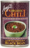 Amy's Organic Chili, Low Fat Medium Black Bean, 14.7 Ounce (Pack of 6)