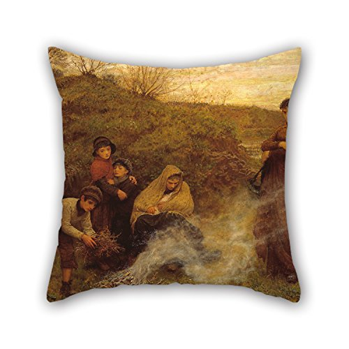 [Uloveme 18 X 18 Inches / 45 By 45 Cm Oil Painting Frederick Walker - The Vagrants Pillowcover,two Sides Is Fit For Gril Friend,monther,girls,teens,bar] (Spirit Walker Costume)