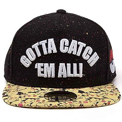 Pokemon Baseball Cap Gotta Catch Em All Official Black Snapback from Pokemon Merchandise