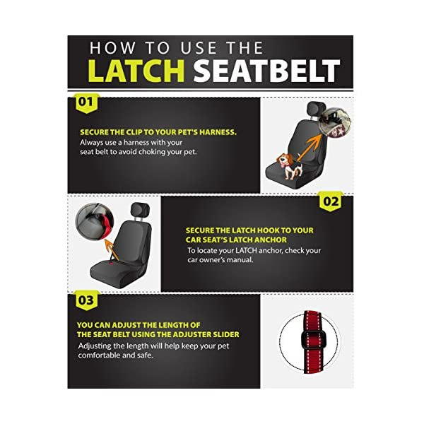 (Hook To Latch Bar, L) – PetsLovers Durable Dog Seatbelt – Heavy Duty Strap, Reflective Lines, 2 Adjustable Sizes (38cm… Click on image for further info. 5