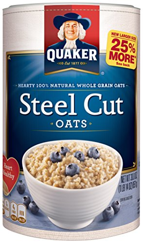 Quaker Steel Cut Oatmeal, Breakfast Cereal, 30 oz (Pack of 12)