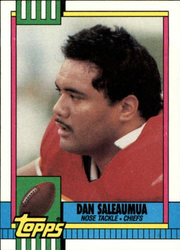 1990 Topps Football Card #249 Dan Saleaumua Mint