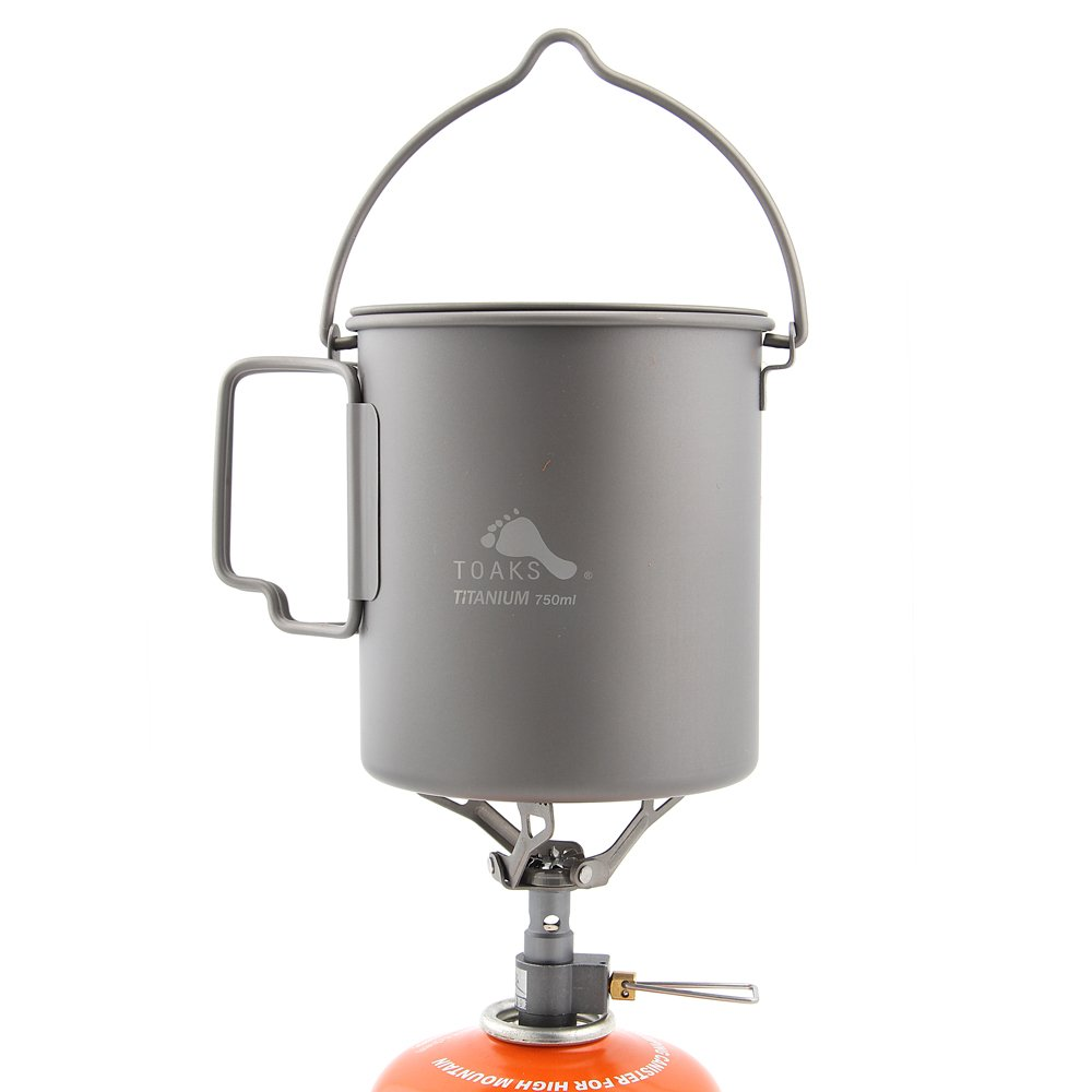BRS-3000T Ultra-light Titanium Stove and TOAKS Titanium Pot Combo Set (BRS-3000T+POT-750-BH) 141[並行輸入] B07B9V5R8B