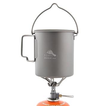 TOAKS 750 ml titanio olla y sólo 25 G BRS-3000T estufa Camping