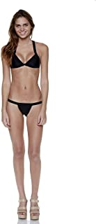 product image for Black Two Piece Over The Shoulder Triangle Bandage Bikini Size L