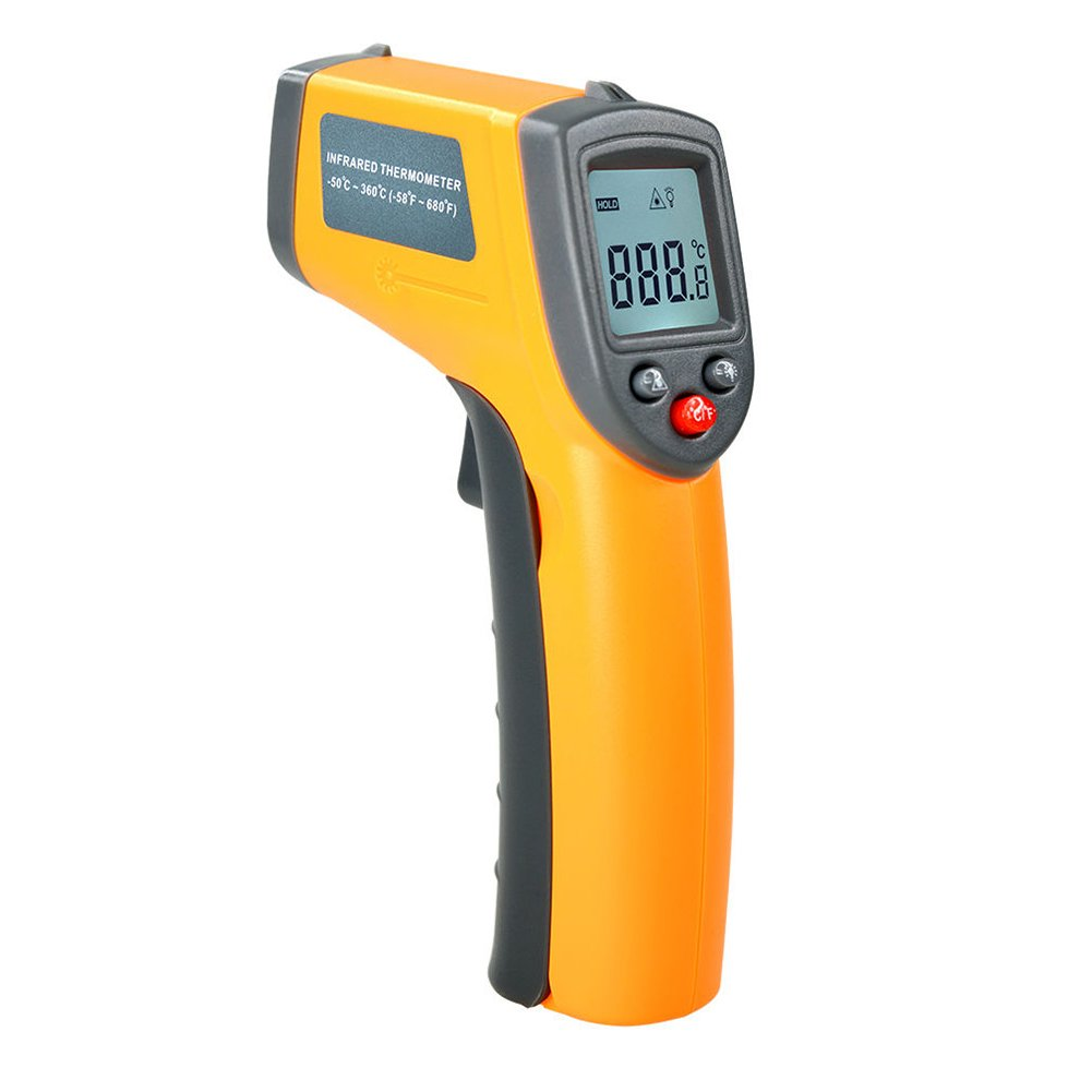 OOLIFENG Non-Contact Digital Laser Infrared Thermometer IR Temperature Gun -50℃ ~ 360℃ (-58℉ ~ 680℉) for Cooking Oven and Candy