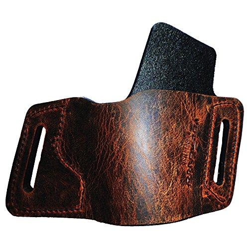 9mm Semi Automatic Gun Pistol - Versa Carry Protector Owb RH Brown Sz1 Black