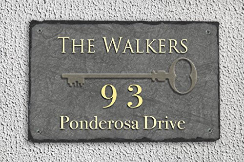 House Plaque (Fully Customizable Slate Home Address Plaque)