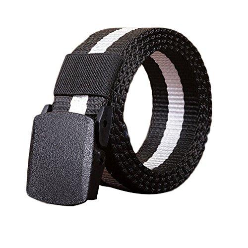 Military Tactical Nylon Belt Webbing Web Belts Strap Plastic Buckle No Metal for Man Women Adjustable Long 55inch Wide 1.8inch (Strap Trap)