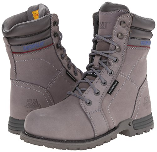 Caterpillar Women's Echo Waterproof Steel Toe Work Boot, Frost Grey, 9 M US