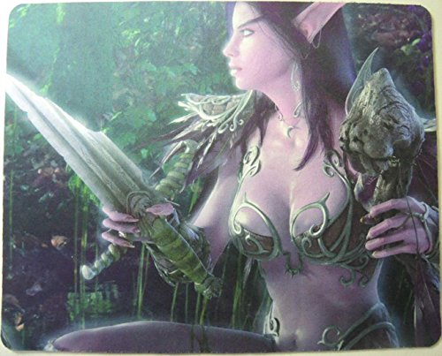 World Of Warcraft Mouse Pads (World of Warcraft mouse pad - Sexy Night Elf)