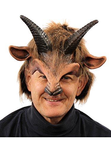 ZAGONE Goat Boy Half Mask w/ Horns