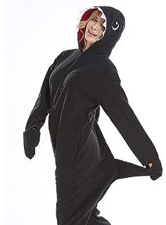 f3e528c44 Amazon.com  NEWCOSPLAY Adult Onesie Shark Costume Halloween Pajamas ...
