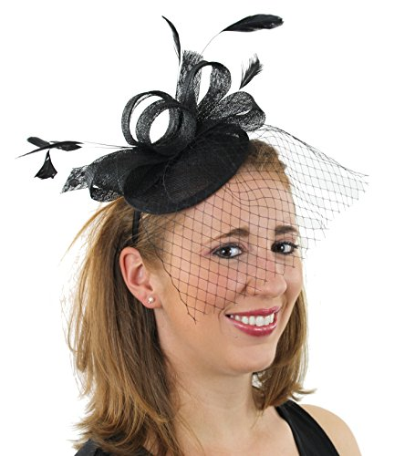 French Fascinator Sinamay Headband Feathers product image