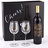 Chocolate Shop Wine Glass Gift Set