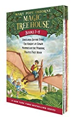 """The first four books in Mary Pope Osborne's wildly popular Magic Treehouse series, packaged in a box set that's perfect for advancing readers. Osborne's combination of adventure, magic, and history will soon have readers asking for more book..."