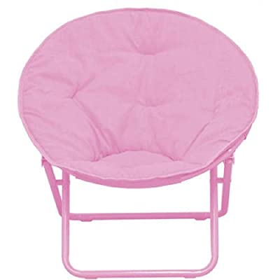 American Kids Solid Faux-Fur Saucer Chair (Pink): Toys & Games