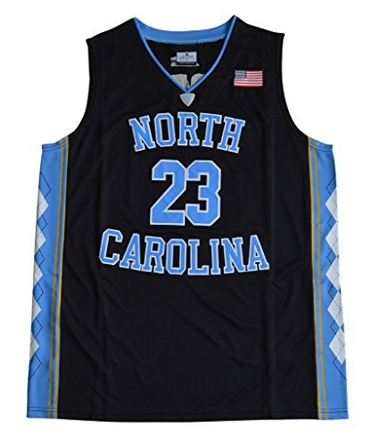 Men's Michael Jordan 23 North Carolina Tar Heels College Basketball Jersey Large