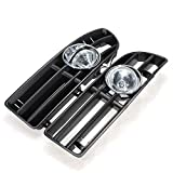 Pink Lizard Bumper Grille Grill Driving Fog Lamp Lights for VW JETTA BORA MK4