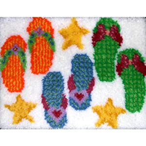 MCG Textiles 37753 Flip Flops Latch Hook Rug Kit