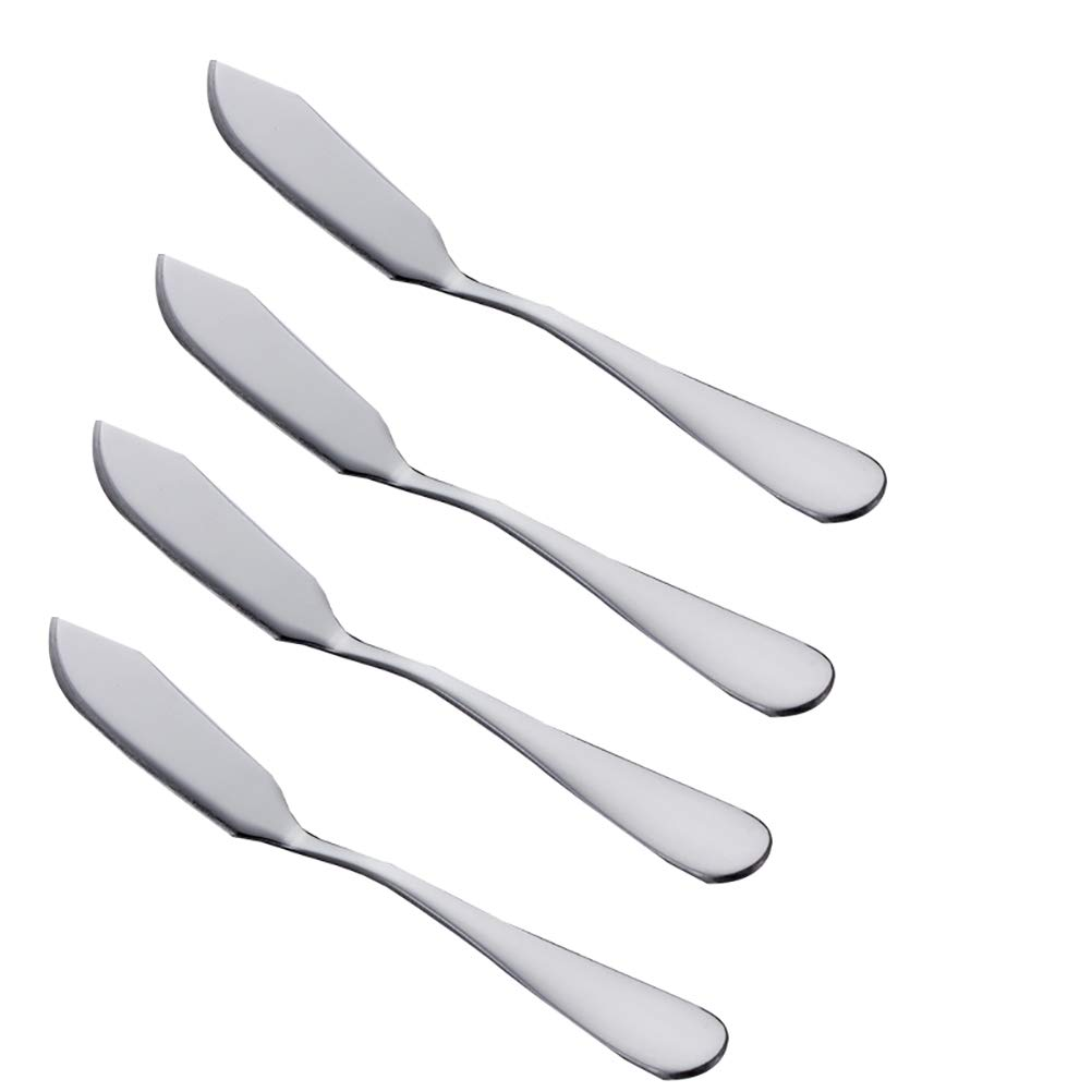 Keep Comfort 4 Pcs Kitchen Necessary Knives Accessories - Creative Stainless Steel Butter Knives Jam Knives Cream Knives Western Tablewares