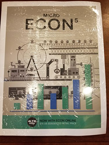 Bundle: ECON MICRO, 5th + ECON MICRO Online, 1 term (6 months) Printed Access Card + Aplia, 1 term Printed Access Card + JoinIn™ Student Response ... 6-month Free Access Rebate Coupon $10 Fall -  McEachern, William A., Display