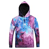 Pius Size Hoodies for Men, Corriee Chic Starry Sky Print Cat Long Sleeve Sweatershirts Mens Fall Hooded Pullover Tops