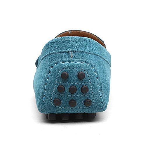Gamuza Loafers Zapatos Conducción Casual Pisos Azul Zapatillas Mocasines Eagsouni® De Hombres wt11xU
