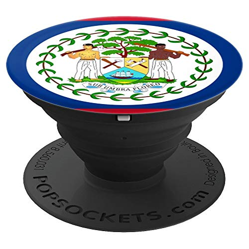Flags of the World Apparel Co. Belize Flag PopSockets Stand for Smartphones and Tablets - PopSockets Grip and Stand for Phones and ()