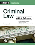Criminal Law, Paul Bergman and Nolo Press Editors, 1413313671