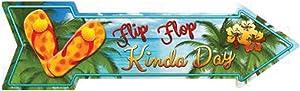 Smart Blonde Flip Flop Novelty Metal Arrow Sign A-316