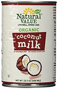 Natural Value Organic Coconut Milk, 13.5-Ounce Cans (Pack of 6)