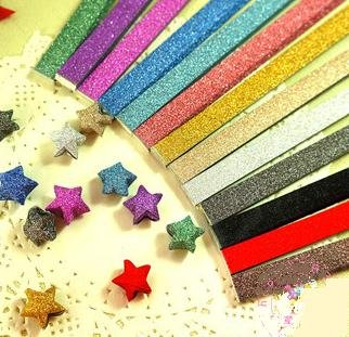 MasterChinese Origami Stars Papers Package (Glitter)