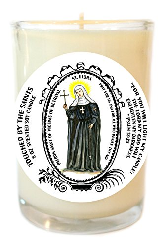 St Flora for Victims of Betrayal 8 Oz Scented Soy Glass Prayer Candle by Touched By The Saints