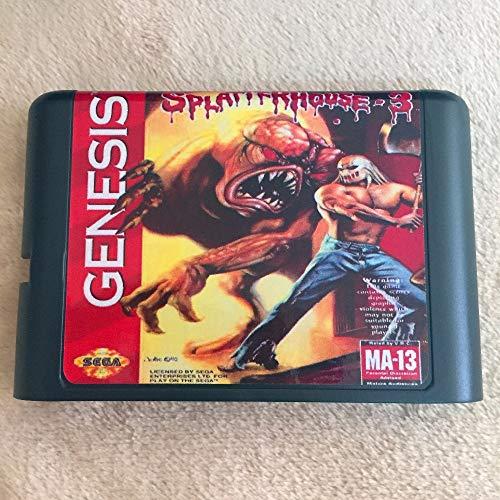 (Value-Smart-Toys - SplatterHouse Part 3 16 bit MD Game Card For Sega Mega Drive For Genesis)