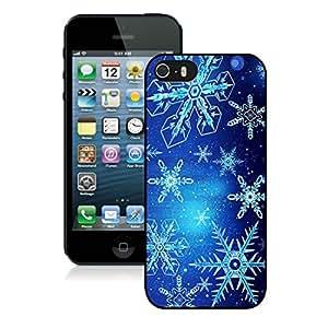 linJUN FENGProvide Personalized Customized Christmas Blue Snowflake iPhone 5 5S TPU Case 1 Black