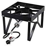 Square Single Burner Outdoor Patio Restaurant Stove / Range - 55,000 BTU