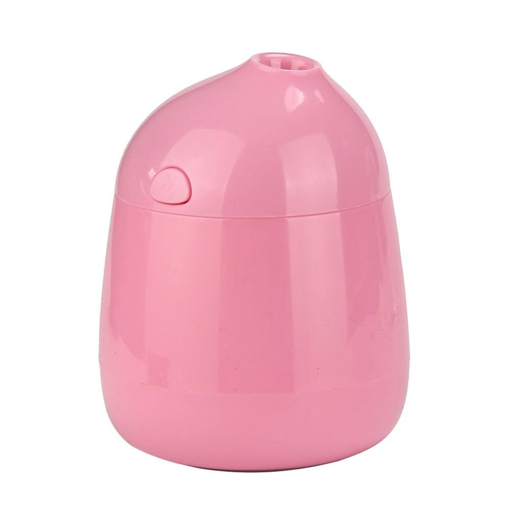 2017Essential Oil Humidifier,Elevin(TM)Portable Mini USB Purifier Freshener Diffuser Humidifier,for Car, Travel, Home, Offices, Outdoor, Bedroom, Living room, Dormitory, College, SPA, Yoga (Pink)