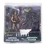 NECA 51396 Aliens Hicks vs Battle Damaged Warrior Action Figure (Pack of 2) by NECA
