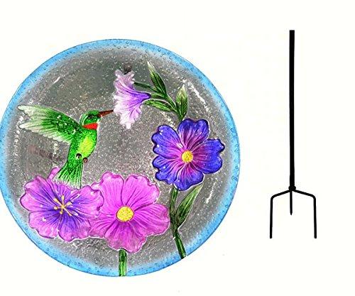 Songbird Essentials SE5002 Hummingbird Staked Bird Bath (Set of 1) by Songbird Essentials
