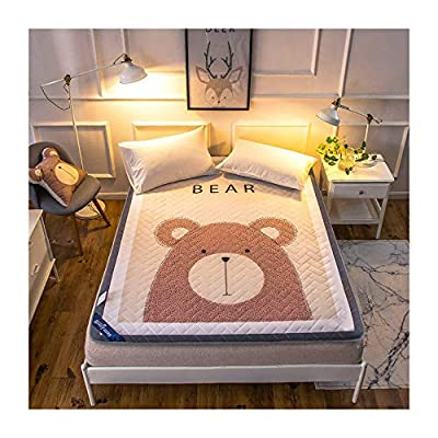 KFZ Super Soft Cotton Mattress Pad Hypoallergenic - Antibacterial, Breathable - Ultra Soft Quilted Mattress Protector, YJ Fitted Sheet Mattress Cover Bear Elk Deer Designs