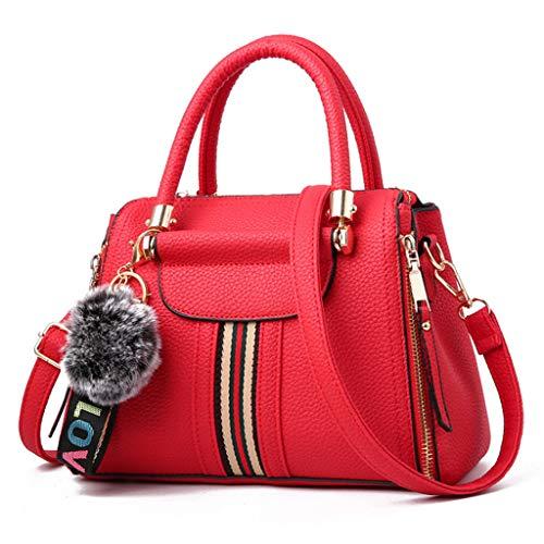 25x18x11cm red B los 25 Del 9 Bolso Tamaño B Colores 18 De Mujeres Las Bolso 11cm Mensajero Manera Hombro La negro Simple color Nj g1UCwq1