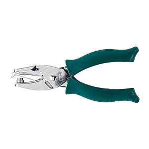 Fiskars 123520-1002 Lia Griffith Softgrip Circle Punch 1/4 Inch, Teal Green